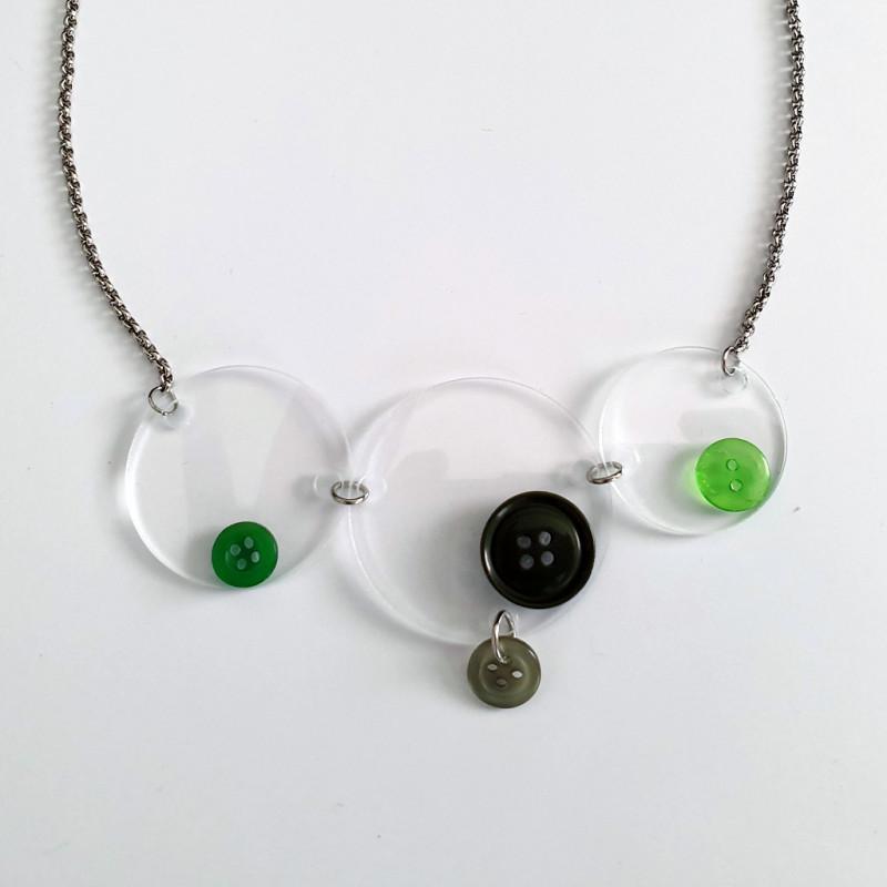 Krugovi - Zeleni gumbi s plexijem