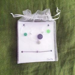 Krugovi - Zeleni gumbi s plexijem - 2