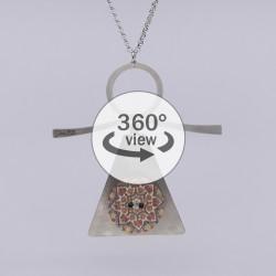 Dixica - 360° Pogled - Mandala na inoxu