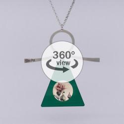 Dixica - 360° Pogled - Zeleni pleksiglas