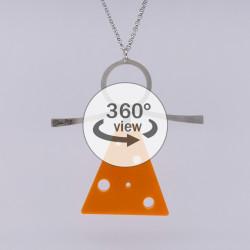 Dixica - 360° Pogled - Pleksiglas narančasti