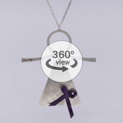 Dixica - 360° Pogled - Inox s ljubičastim