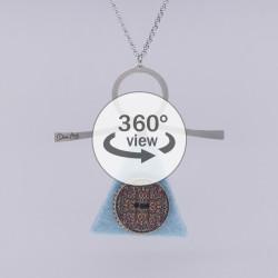 Dixica - 360° Pogled - Gumb na filcu