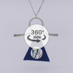Dixica - 360° Pogled - Gumb s leptirom